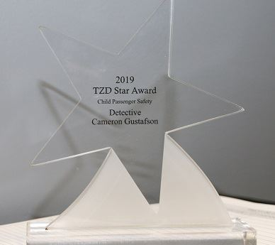 Glass Star-shaped award