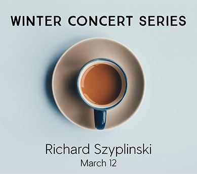 Coffee cup titled: Winter Concert Series, Richard Szyplinski