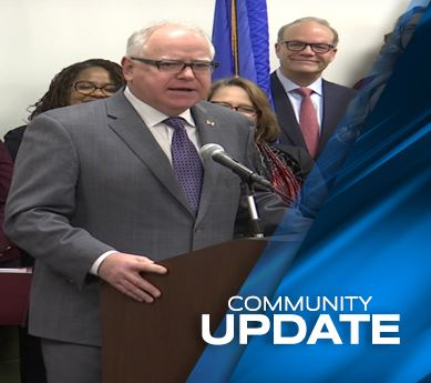 Governor Tim Walz visits Anoka-Ramsey Community College